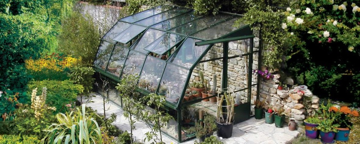 The Hartley Botanic Lean-To Glass to Ground Greenhouse 7 With Sliding Doors