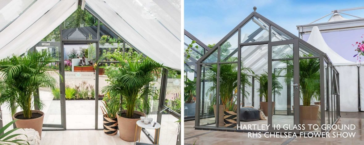 Interior of a Contemporary Design Hartley Botanic Glass to Ground Glasshouse